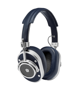 MH40 Over-Ear Headphones Navy Leather
