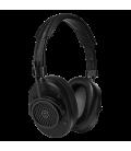 MW40 Wireless Over-Ear Headphones Black Leather & Metal