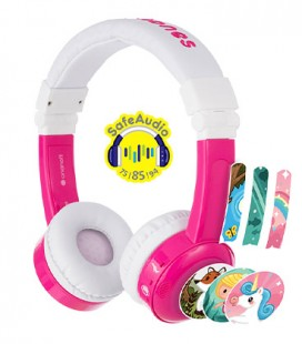 BuddyPhones Connect InFlight Pink